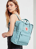 ✔️ Рюкзак Fjallraven Kanken (Канкен) Classic Sky Blue Backpack/Небесно голубой