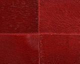 Шкіряний килим з шкури корови червоного кольору, килим з фарбованої шкіри, фото 4