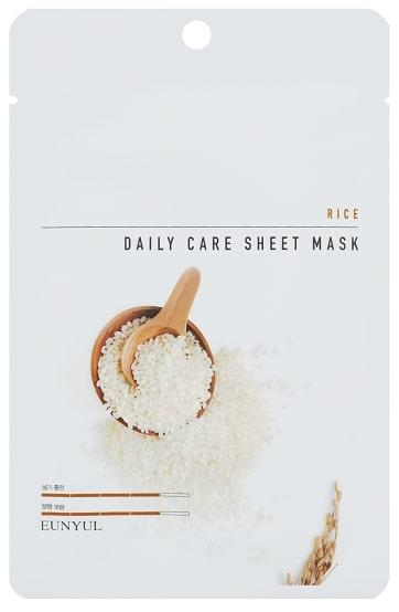 Матирующая маска для лица с рисовым экстрактом Eunyul Daily Care Mask Sheet Rice 22 г (8809435405334)