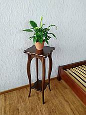 "Подставка для цветов  из дерева ""Азалия"" (лесной орех), фото 3"