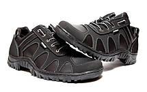 Мужские черные кроссовки демисезонные прошитые, фото 2