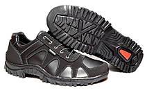 Мужские черные кроссовки демисезонные прошитые, фото 3