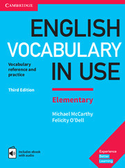 Учебник English Vocabulary in Use 3rd Edition Elementary + eBook + key