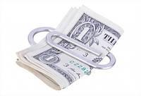Зажим для денег Скрепка