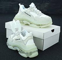 Женские кроссовки в стиле Balenciaga Triple S Clear Sole White (36, 37, 38, 39, 40 размеры), фото 3