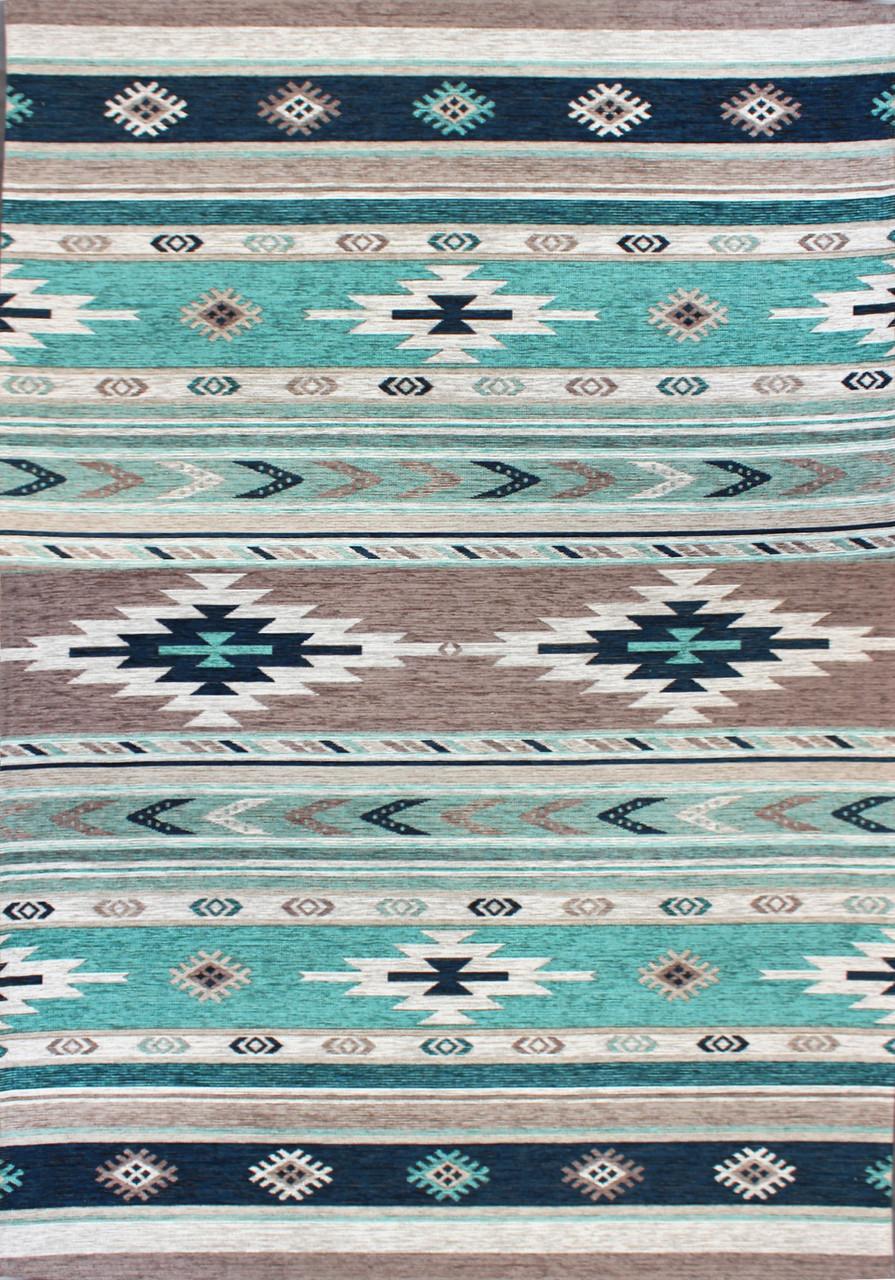 Ковер ALMINA 127574 1,2*1,8, 01-GREY/TURKUAZ, Прямоугольник