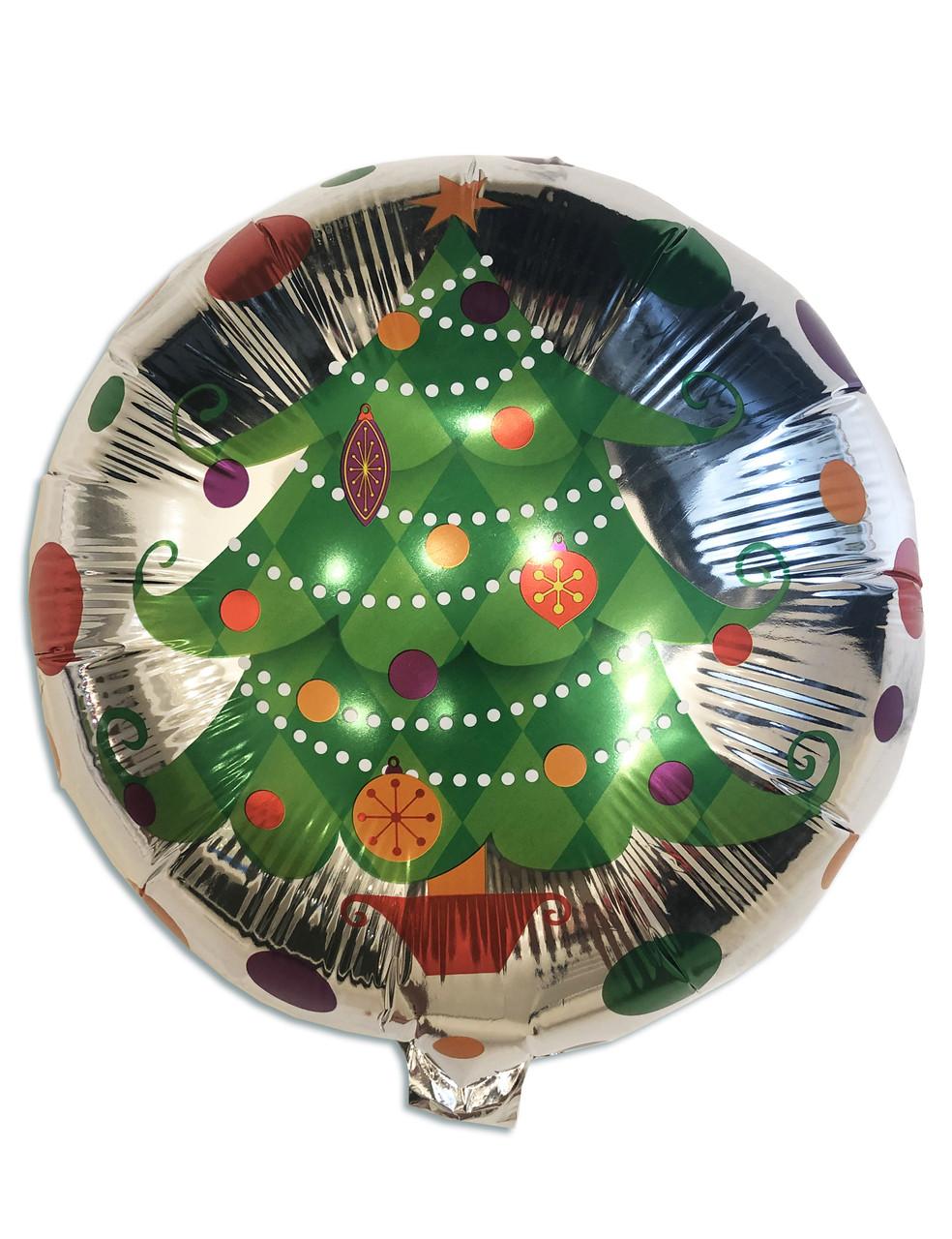 Воздушный фольгированный шар Ёлочка с игрушками (Китай)