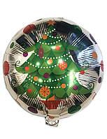 Воздушный фольгированный шар Ёлочка с игрушками