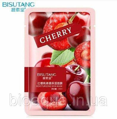 Увлажняющая маска для лица Bisutang Moisturizing Skin экстрактом вишни  28 g