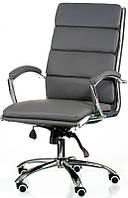 Офисное кресло Molat grey с высокой спинкой и сиденьем из арткожи, механизм Tilt Бесплатная доставка
