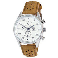 Наручные мужские часы  TAG Heuer Carrera 1887 SpaceX Mechanic Silver-White CL