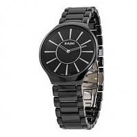 Наручные часы унисекс Rado True Thinline Ceramic Black-Silver