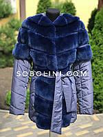 Примерка в шоу руме куртки из кролика рекса, фото 1