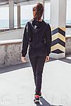 Женский спортивный костюм с яркими вставками черный, фото 4