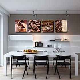 """Мультипанно """"Кофе"""" картины в кухню, картины для кофейни"""