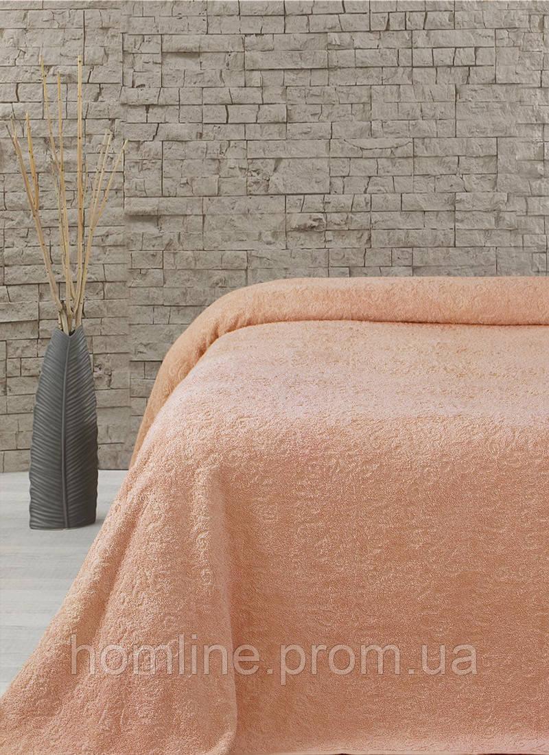 Махровая простынь-покрывало Lotus Sun оранжевый 160*220