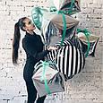 Фольгированный стильный воздушный шар в черно белую полоску 45 см, фото 8