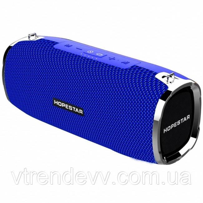 Колонка портативная Bluetooth Hopestar A6 35W Blue синяя