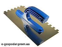Гладилка сталева оцинкована 270х130, зуб 10х10
