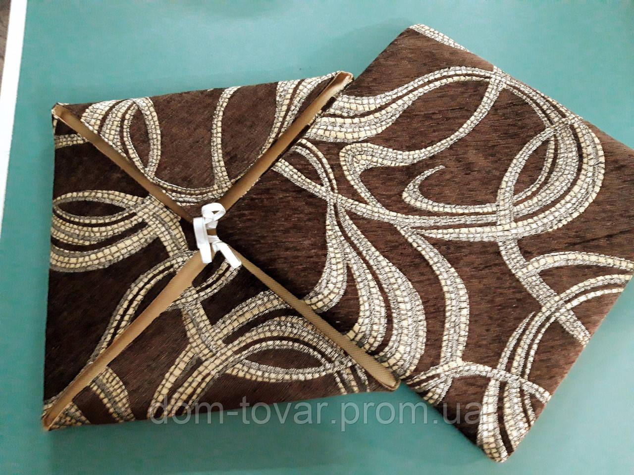 Чехлы на табуреты темно-коричневый