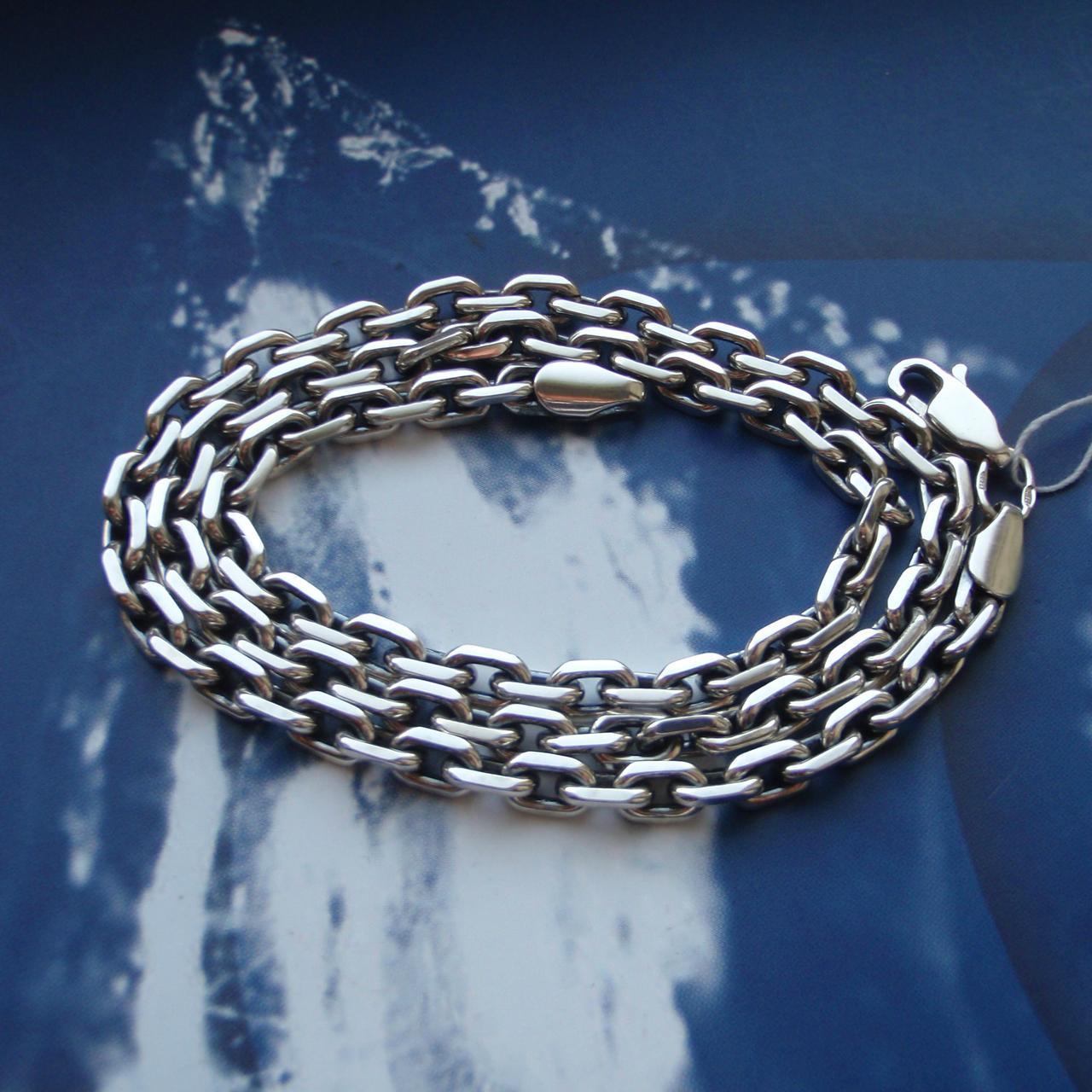 Серебряная цепочка, 700мм, 62 грамма, якорное плетение
