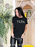Женская повседневная футболка с надписью tez517174, фото 1