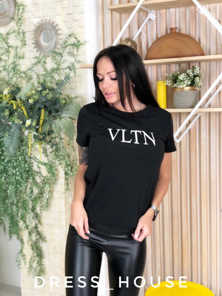 Женская повседневная футболка с надписью tez517174