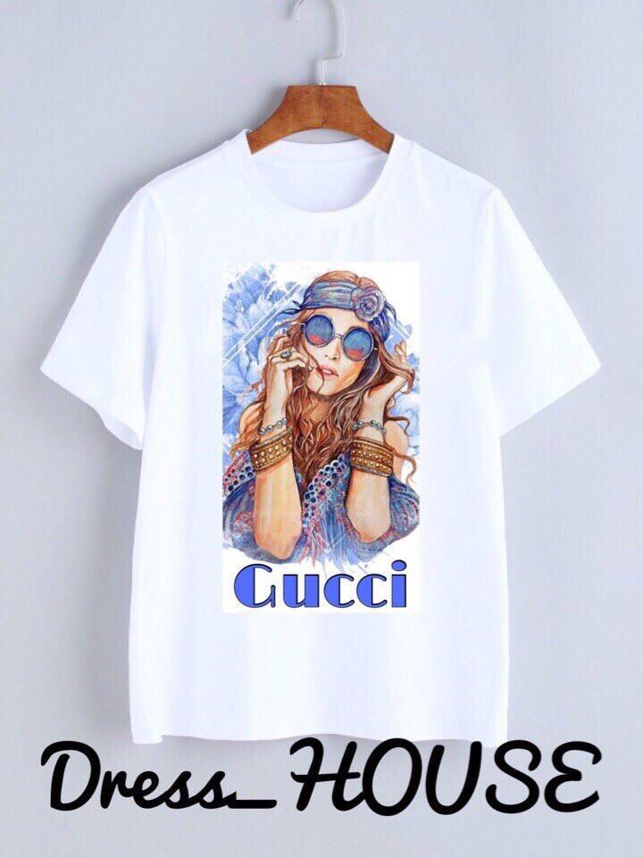 Летняя женская футболка из софта с рисунком tez517176