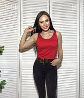 Женский трикотажный топ майкой в расцветках tez5117186, фото 1