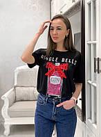 Хлопковая женская футболка на лето с рисунком tez3317195, фото 1