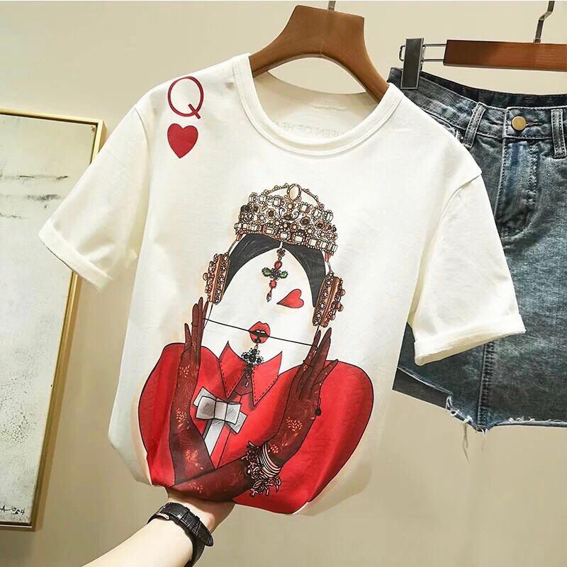 Женская белая футболка с рисунком tez6817221