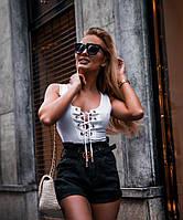 Женская летняя майка на шнуровке на груди tez7117237, фото 1