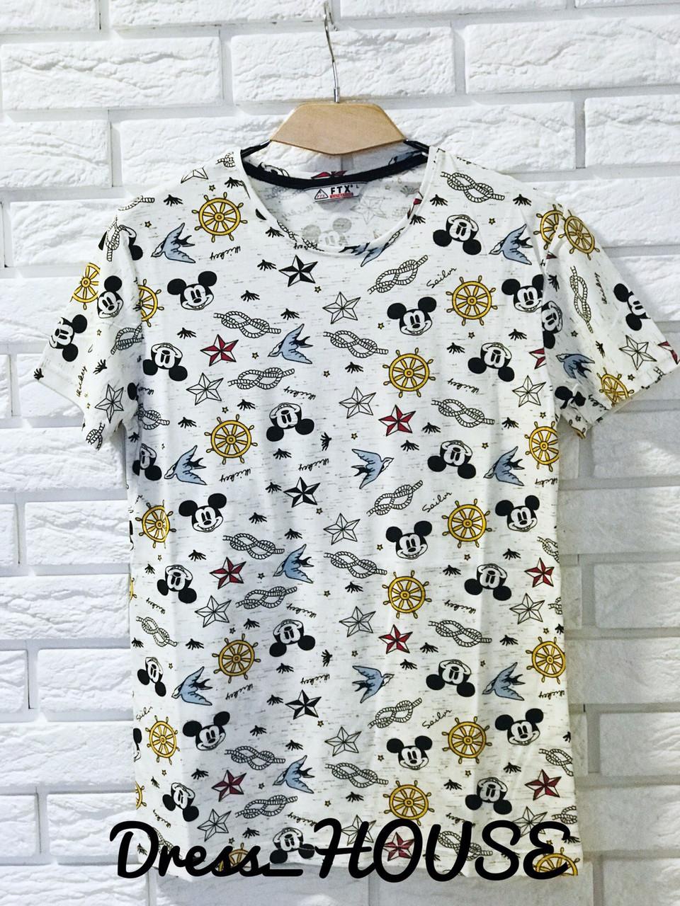 Принтованная женская футболка на лето tez517235