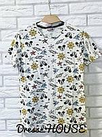 Принтованная женская футболка на лето tez517235, фото 1