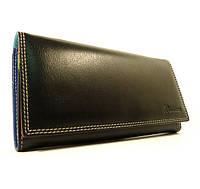 Кожаный кошелек Prensiti 122-6601 черный, расцветки в наличии