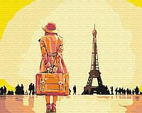 """Картина  по номерам Brushme """"Путешественница в Париже"""" GX30474"""