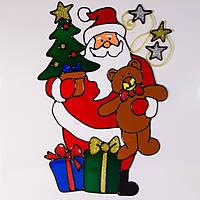 Витраж на окно, в ассортименте - Дед Мороз, 25 см (160463-1)