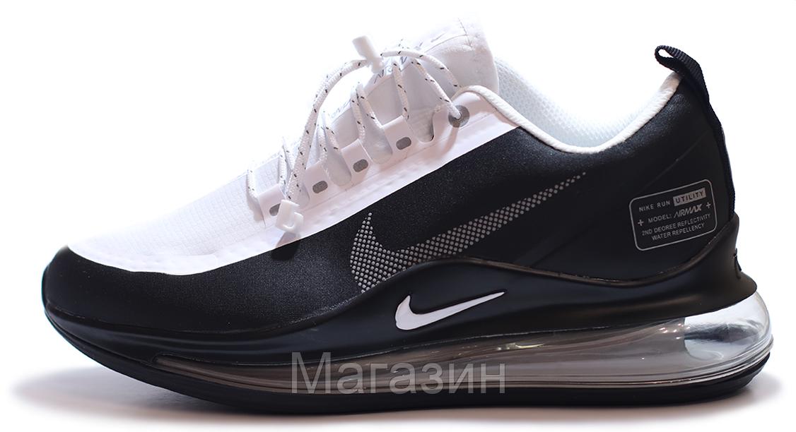 Мужские кроссовки Nike Air Max 720 Black White Найк Аир Макс 720 черные с белым 2020