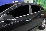 Ветровики , дефлекторы окон Hyundai Sonata LF 2014-2018- (Autoclover) A196, фото 7