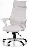 Офисное кресло Monika white с высокой спинкой исиденьем из арткожи, механизм Multiblock Бесплатная доставка