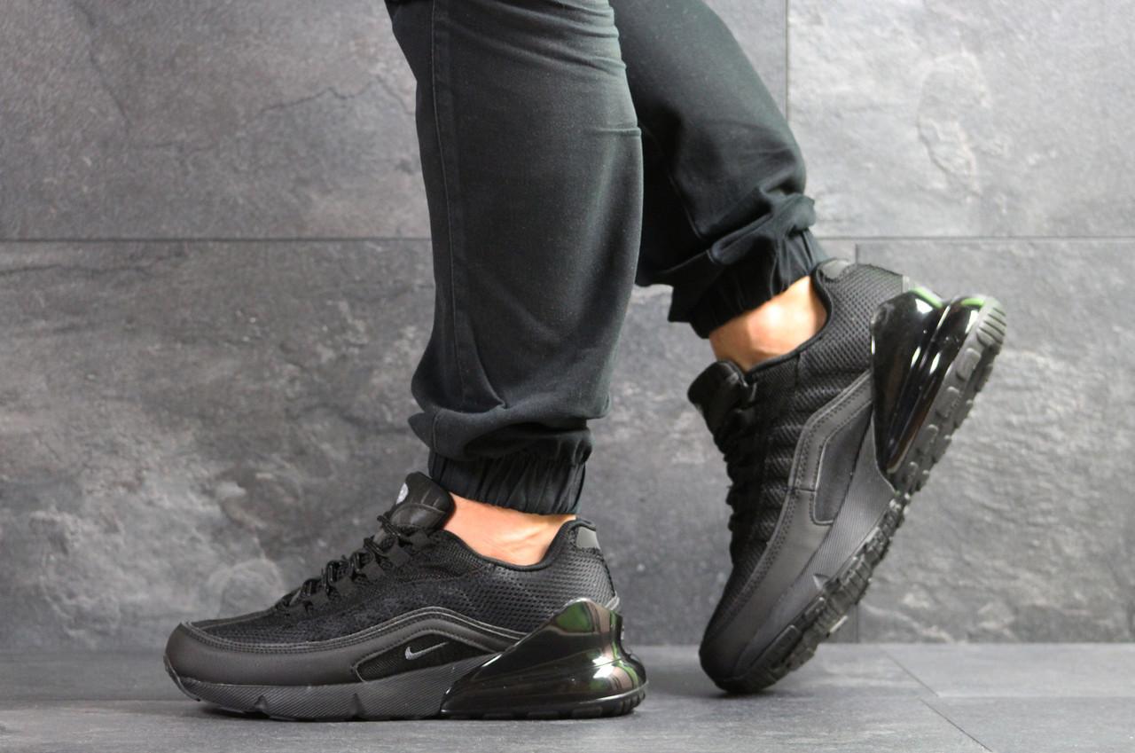 Кроссовки мужские  Nike Air Max 95 + Max 270  черные