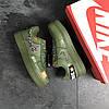 Кросівки чоловічі Nike Air Force 1 Just Do It  темно зелені , фото 5