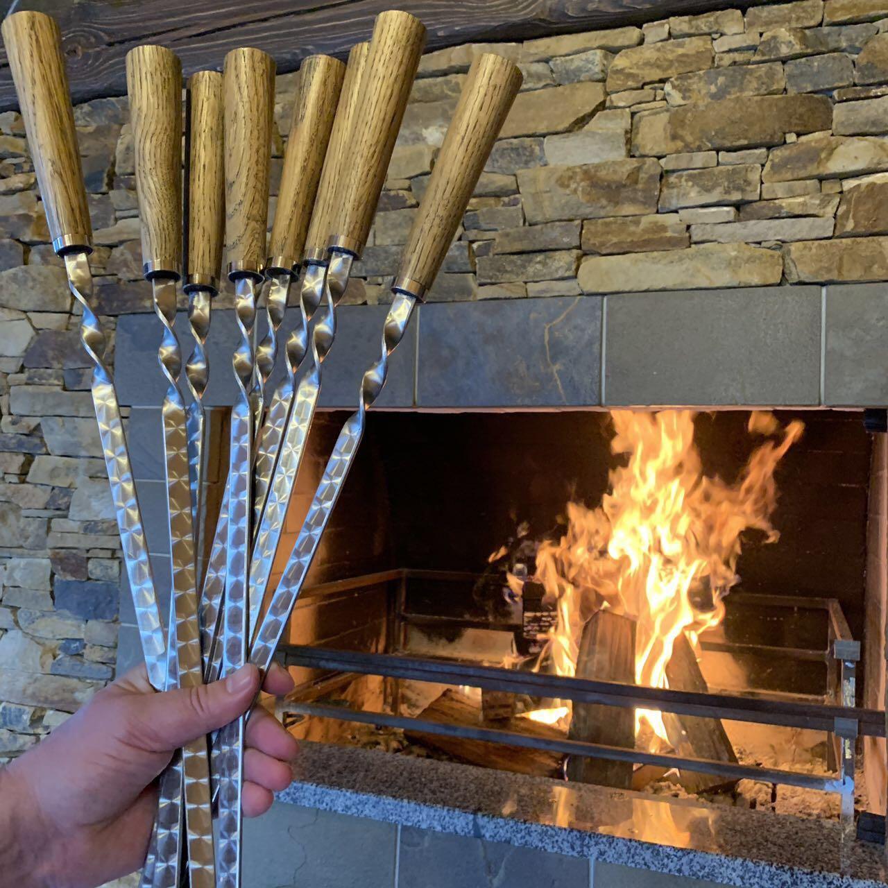 """Набор шампуров с деревянной рукоятью """"Light"""", (3мм, 6шт)"""
