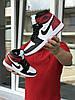 Кросівки чоловічі в стилі Nike Air Jordan 1 Retro High OG  чорні з білим\червоні   ТОП якість, фото 2