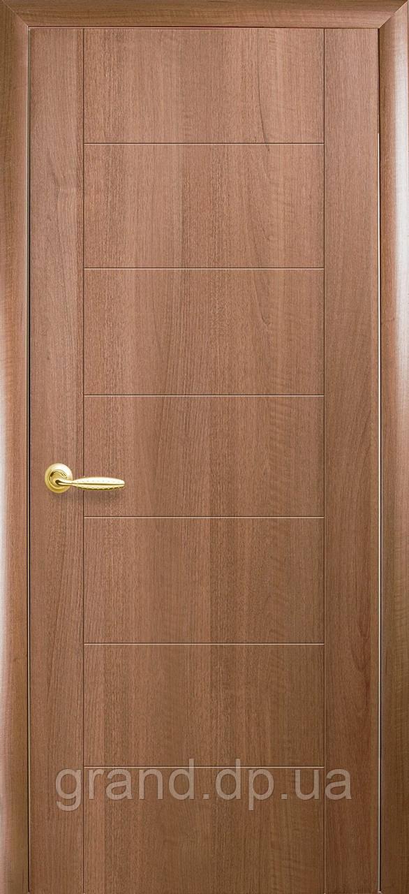 Двери межкомнатные Новый стиль Рина ПВХ Deluxe, цвет золотая ольха