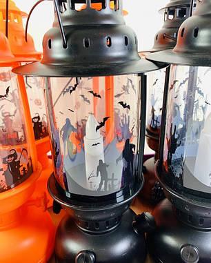 Фонарь Керосиновая лампа на Хэллоуин, 27 см, фото 2