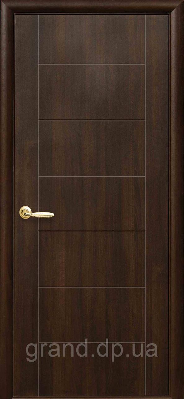 Двери межкомнатные Новый стиль Рина ПВХ Deluxe, цвет каштан
