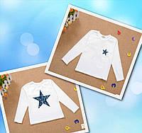 Реглан для мальчиков белый со звездой