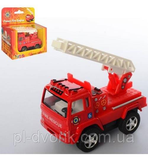 Машинка KS 3507 W Металл, Инер-Я,Пожарная ,8см