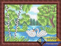 Схема для вышивки бисером - Лебеди на пруду, Арт. ПБп4-036